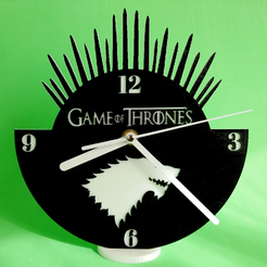 Capture d'écran 2017-10-16 à 14.31.06.png Download free STL file Clock Game of Thrones • 3D printable object, 3dlito