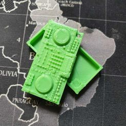 front.jpeg Download STL file XDJ-XZ pills keychain container • 3D printing template, PerfectRave