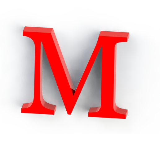 M2.png Download free STL file Letras / abecedario completo • Object to 3D print, Lubal