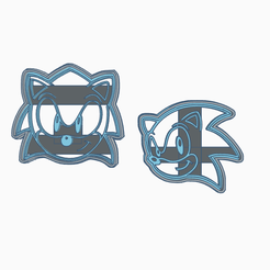 Sonic.png Download STL file Sonic cookie cutters • Model to 3D print, mzssln