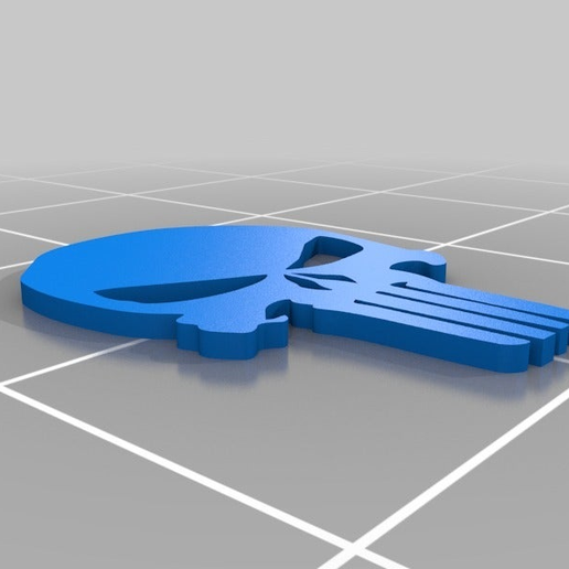 Punisher-Logo.png Download free STL file The Punisher - Logo • 3D printing object, AwesomeA
