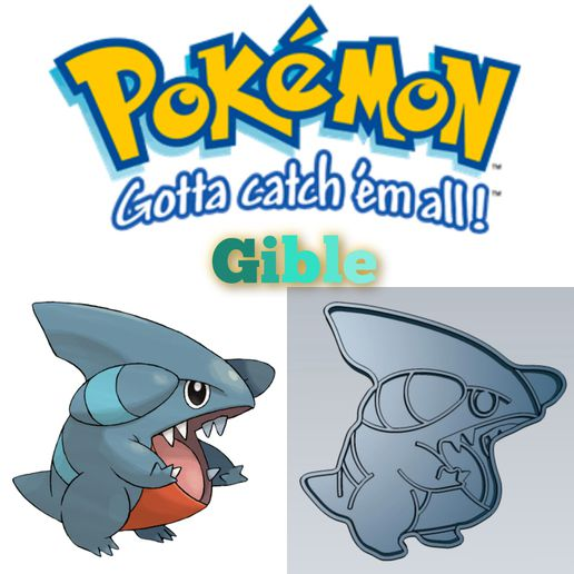 WhatsApp-Image-2021-07-20-at-5.41.20-PM.jpeg Télécharger fichier STL AMAZING POKEMON Gible COOKIE CUTTER STAMP CAKE DECORATING • Design imprimable en 3D, Micce