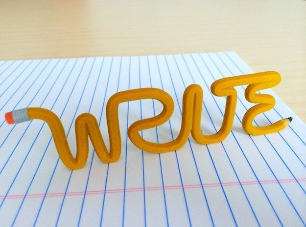 625x465_1856450_3007775_1424940813.jpg Download STL file The Writer's Pencil • 3D print object, 3by3D