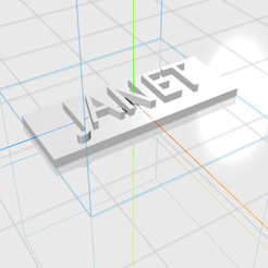 JANET.png Download STL file JANET letters • 3D printable template, 3D_Names