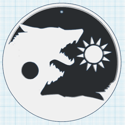 0.png Download free STL file Yin Yang Wolf • 3D print object, oasisk
