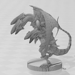 blue-yes-ultimate-dragon-smooth.jpg Download STL file blue eyes ultimate dragon • 3D print template, formon