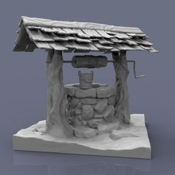 Water_well _1.jpg Download OBJ file Water well model for 3d printing • 3D printable template, Ventum