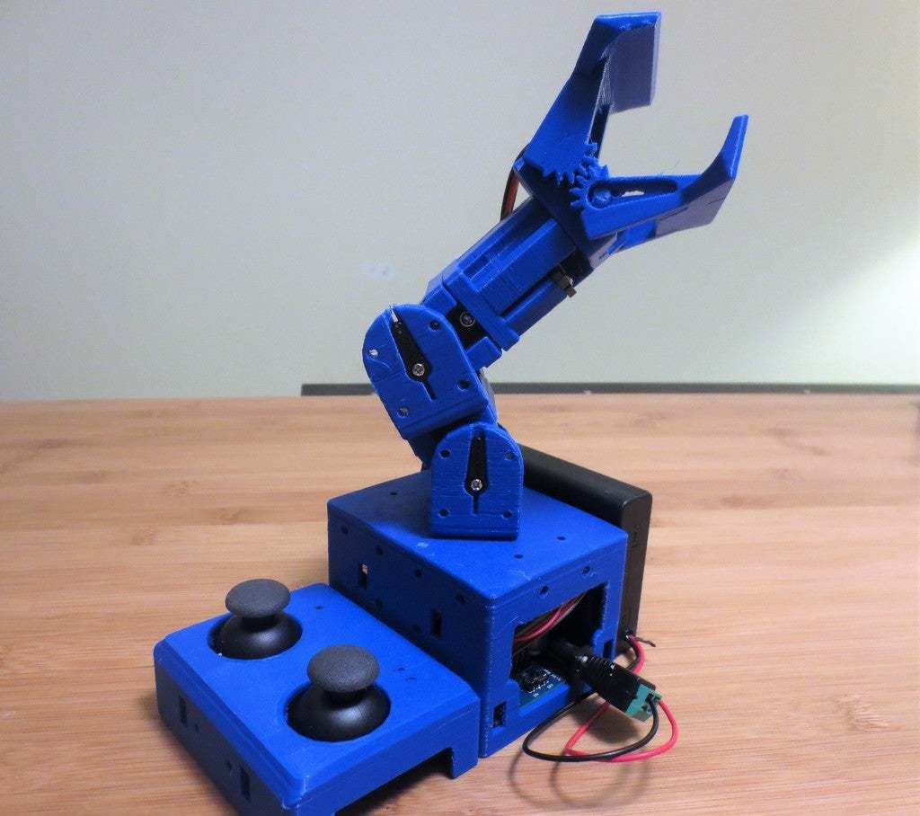 Jointed_Arm.jpg Download free STL file Jointed Arm Robot Gripper *Tiny_CNC_Collection • 3D print model, mechengineermike