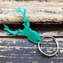 3.JPG Download free STL file Deer key holder • 3D print object, Free-3D-Models
