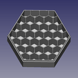 boite_batteries_nid_abeille.png Download free STL file AA-AAA honeycomb battery box • 3D print template, renaud59