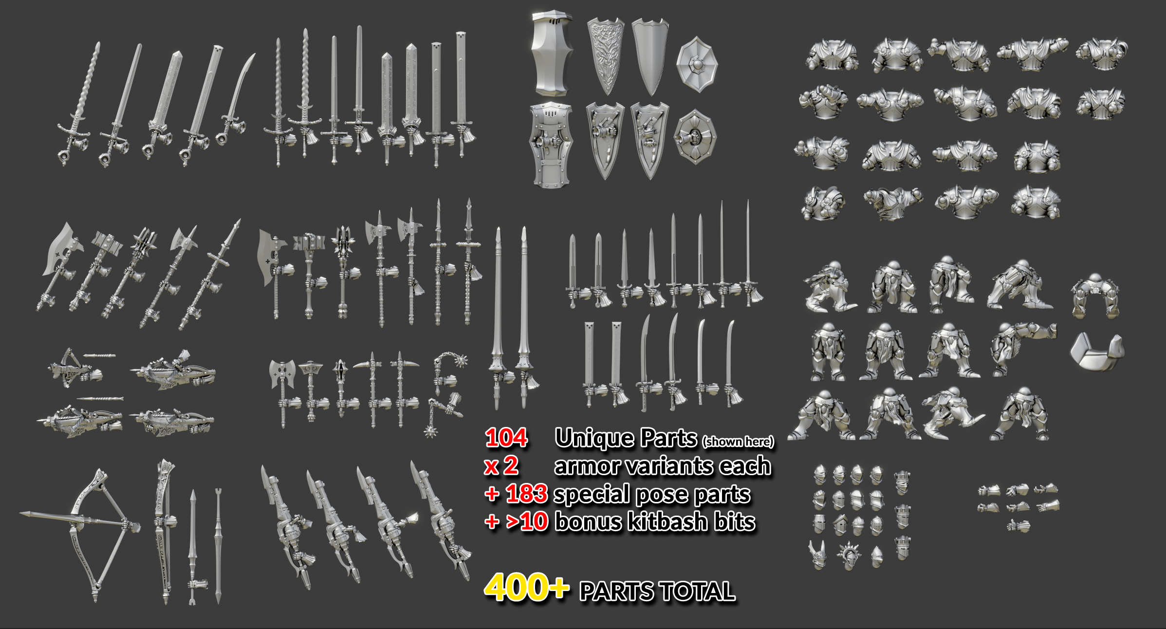 PartsList.png Download free STL file Ultimate Knight Builder - Sample • 3D printing template, The5_1