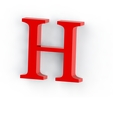 h2.png Download free STL file Letras / abecedario completo • Object to 3D print, Lubal