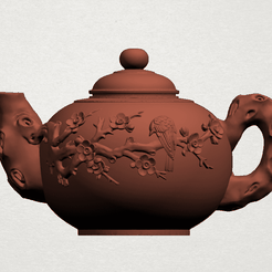 Tea Pot A00.png Download free STL file Tea Pot 01 • 3D print template, GeorgesNikkei