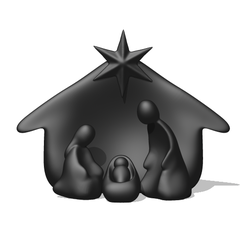 Manger.PNG Download STL file Holy Nativity - Manger Scene • 3D printing object, usagipan3dstudios