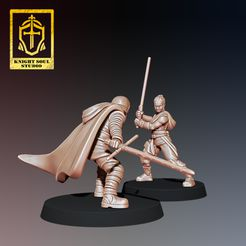 Rey v Ren 2.jpg Download STL file PACK LAST KNIGHT V FALLEN KNIGHT • 3D printer model, KnightSoul_Studio