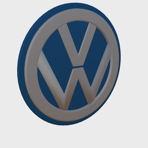 VW1.png Download STL file VW Badge • Object to 3D print, SimonTGriffiths