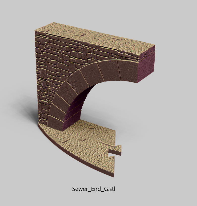 Sewer_End_G.png Download file PuzzleLock Sewers & Undercity • Design to 3D print, Zandoria