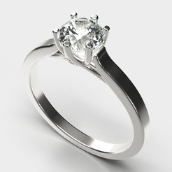 Engagement  ring (5).png Download STL file Engagement Ring  • 3D printer template, diogorodrigues1990