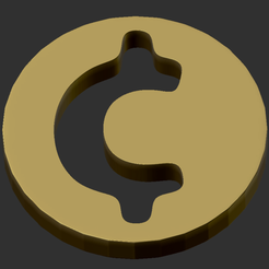 ZBrush_2020-01-29_08-02-49.png Download free STL file The Binding of Isaac 4 Souls coin • 3D printable template, Zibok