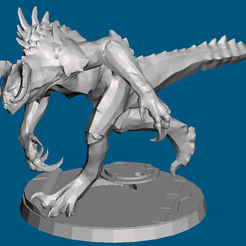 Capture.PNG Download free STL file FWW charging deathclaw • Model to 3D print, Sebtheis