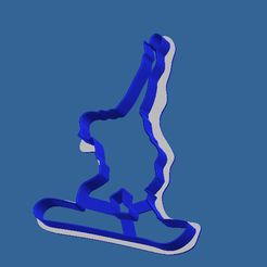 snow1.JPG Download free STL file cookies cutter snowboarder • 3D printer design, BOUVERAT3DPrint
