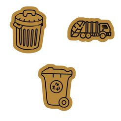 main.jpg Download file Rubbish / recycling cookie cutter set of 3 • 3D printer template, roxengames