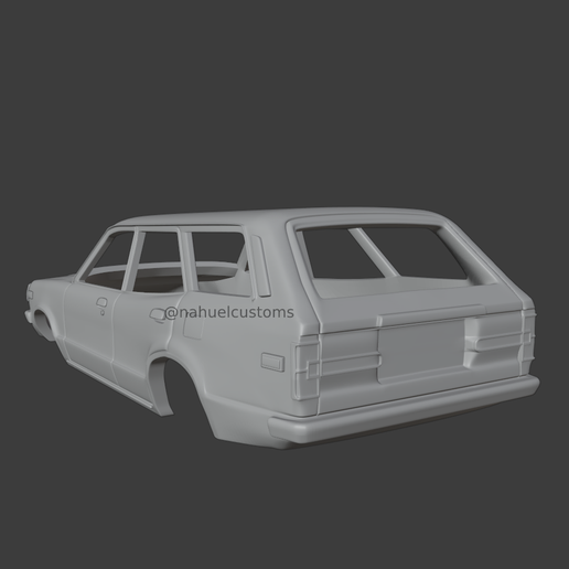 New-Project-2021-07-26T223542.166.png Download STL file Mazda RX-3 12A Wagon - Car Body • 3D printing template, ditomaso147