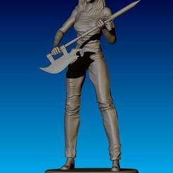 Buffy_05.JPG Download STL file Buffy Figurine • 3D print design, NickeysHatchery
