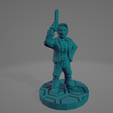 Tessa Action Pose.png Download STL file Frontier Starpilot With Magnum • 3D printing template, Ellie_Valkyrie