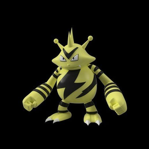 64dbeafc64240eee031ee214d85e83a6_preview_featured.jpg Download free STL file Electabuzz • 3D printing object, Philin_theBlank