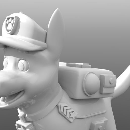 chase_paw_patrol_02.JPG Download STL file Chase Paw Patrol • 3D printable object, tridimagina