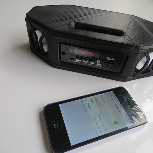 IMG_1163.JPG Download free STL file Portable Bluetooth Stereo Speaker • Object to 3D print, project3dprint