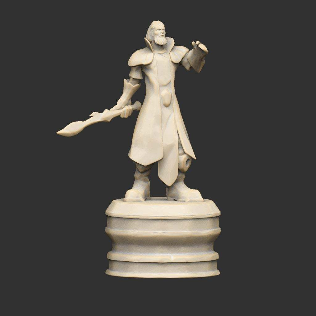 GuildStatue06.jpg Download free STL file Guild Hero Statues x6 • Template to 3D print, CharlieVet
