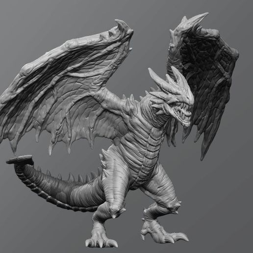a505db551065bf88889690b5667d8f53_display_large.jpg Download free STL file Forest drake • 3D printable object, schlossbauer
