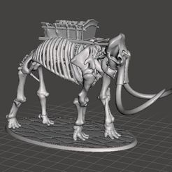 7abcd6198f69e9379bc7a0a0b3226734_display_large.JPG Download free STL file 28mm Skeleton Warrior Mammoth (no crew) • 3D printer model, BigMrTong