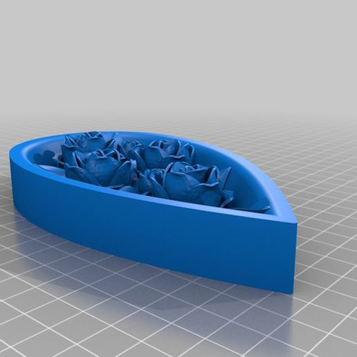 img (16).jpg Download free STL file Jewellery box in the shape of a heart and decorated with roses • 3D printer model, oasisk