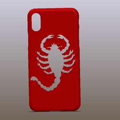 Capture d'écran (2).png Download free STL file IPHONE X CASE SCORPIO FROM DRIVE • Object to 3D print, Empeurare