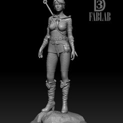 ZBrush-Document13.jpg Download STL file Ciri from the witcher game • 3D printing template, chamallow