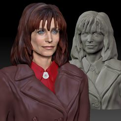 Gale_0020_Layer-1.jpg Download STL file Courteney Cox as Gale Weathers from Scream 1 textured • Design to 3D print, JanM15