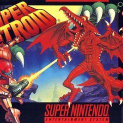 super-metroid-cover-artwork-usa-box.jpg Descargar archivo STL gratis LITHOPHANE Cover Super Metroid SNES Nintendo • Diseño imprimible en 3D, RustyVince