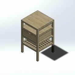 Screenshot_1.jpg Download STL file 1.6 SCALE IKEA NORDKISA STYLE BEDSIDE TABLE FOR BARBIE DOLL (DOLL HOUSE) • 3D printing model, wamonuop