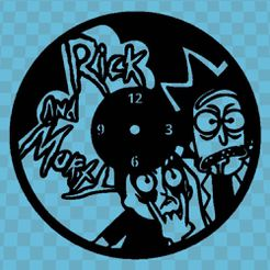 RICK_AND_MORTY.jpg Download free STL file Reloj Rick And Morty v2 • 3D printer template, 3dlito