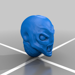 PM3D_alien_face_angry.png Download free OBJ file Pirahna Alien heads • 3D printing object, El_Mutanto