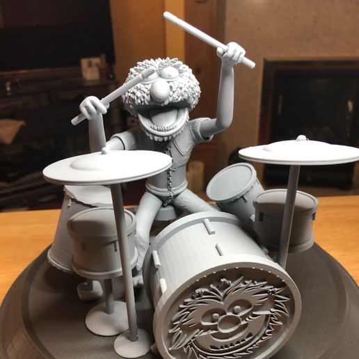 IMG_1613.jpeg Download STL file Animal with Drums Muppets STL • 3D printing model, romwba