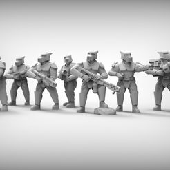 6b68e2e19551670959f74f3071c4b5fa_display_large.jpg Download free STL file SPECIAL WEAPONS - GUARD DOGS x9 28mm (RESIN) • 3D print template, BREXIT