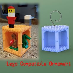legoornamentpromo_display_large.jpg Download free STL file Lego Compatible Ornament • 3D print object, Durbanarb