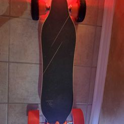 WhatsApp Image 2020-10-17 at 4.32.44 AM.jpeg Download free STL file WOWGO 3 eskate pneumatic tire AT conversion kit flashlight mount bashguard tail light mudguard hub motor adapter skateboard longboard • Template to 3D print, cr8rrr