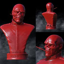 IMG_20191220_230435_982.jpg Download STL file The Red Skull Marvel • 3D printer design, SADDEXdesign