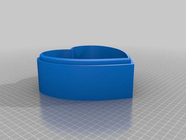 img (7).jpg Download free STL file Jewellery box in the shape of a heart and decorated with roses • 3D printer model, oasisk