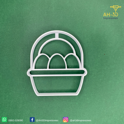 21.png Download STL file Egg Basket Cookie Cutter • Template to 3D print, andih256